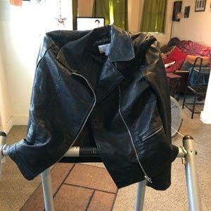 Xhilaration Faux Leather Motorcycle Jacket XL 12